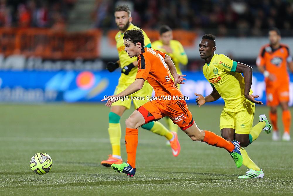 Vincent LEGOFF / Ismael BANGOURA - 20.12.2014 - Lorient / Nantes - 17eme journee de Ligue 1 -<br />Photo : Vincent Michel / Icon Sport