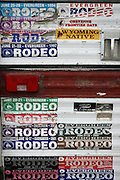 062109-Evergreen, Colo.-bullriding-Evergreen Rodeo bumper stickers fill the back of a pick up truck at the 2009 Evergreen Rodeo PRCA Bull Riding Competition Sunday, June 21, 2009 at The Evergreen Rodeo Grounds..Photo By Matthew Jonas/Evergreen Newspapers/Photo Editor