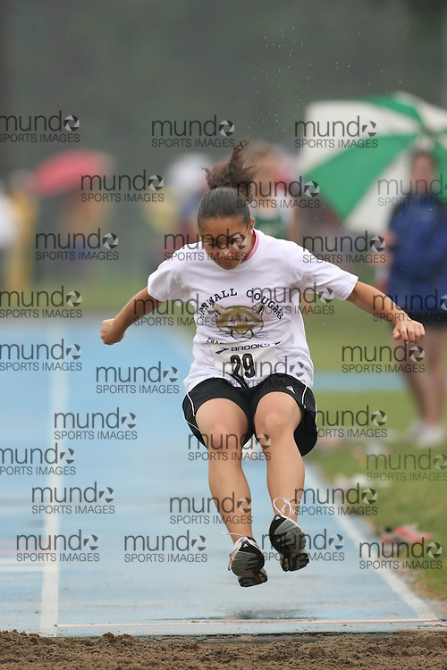 "(Ottawa, Ontario---20080628) ""Croney, Nikyla"" competing in the long jump at the 2008 District G qualifier for the Royal Canadian Legion Ontario Track and Field Championships. This image is copyright Sean W. Burges, and the photographer can be contacted at seanburges@yahoo.com."