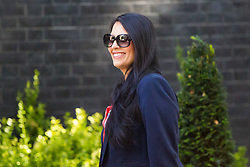 London, July 4th 2017. International Development Secretary Priti Patel attends the weekly cabinet meeting at 10 Downing Street in London.