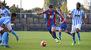 Jake Gray looks to take on the Coventry defence singlehandidly during the Final Third Development League match between U21 Crystal Palace and U21 Coventry City at Selhurst Park, London, England on 12 October 2015. Photo by Michael Hulf.
