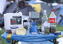 07.08.2010, Wacken Open Air 2010, Wacken, GER, 3.Tag beim 21.Heavy Metal Festival auf dem Campingplatz ein Chaos von Muell Alkohol und Dreck, EXPA Pictures © 2010, PhotoCredit: EXPA/ nph/  Kohring+++++ ATTENTION - OUT OF GER +++++ / SPORTIDA PHOTO AGENCY