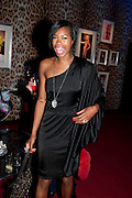 TOLULA ADEYEMI, Dinner and party  to celebrate the launch of the new Cavalli Store at the Battersea Power station. London. 17 September 2011. <br /> <br />  , -DO NOT ARCHIVE-© Copyright Photograph by Dafydd Jones. 248 Clapham Rd. London SW9 0PZ. Tel 0207 820 0771. www.dafjones.com.