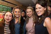 LAURA KATE; TESSA SEWARD; RHIANNON LAMBERT; ALICE MACKINTOSH; Launch of The Happy Kitchen: Good Mood Food, by Rachel Kelly and Alice Mackintosh. Squirrel, South Kensington. London. 31 January 2017