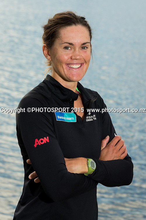 Women's Single Scull Fiona Bourke at the Rowing NZ Media Day, Lake Karapiro, Cambridge, New Zealand, Wednesday 6 May 2015. Photo: Stephen Barker/Photosport.co.nz