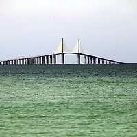 The Sunshine Skyway Bridge in Tampa, Florida. (AP Photo/Alex Menendez) Florida scenic highway photos from the State of Florida. Florida scenic images of the Sunshine State.