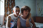 Gavin and Rachel. Hawthorne Road, High Wycombe, UK. 1980s.