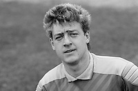 Trevor McDowell, footballer, Ards FC, N Ireland, UK, March 1986, 198603000301<br /> <br /> Copyright Image from Victor Patterson, 54 Dorchester Park, <br /> Belfast, UK, BT9 6RJ<br /> <br /> t1: +44 28 9066 1296 (from Rep of Ireland 048 9066 1296)<br /> t2: +44 28 9002 2446 (from Rep of Ireland 048 9002 2446)<br /> m: +44 7802 353836<br /> <br /> e1: victorpatterson@me.com<br /> e2: victorpatterson@gmail.com<br /> <br /> www.victorpatterson.com<br /> <br /> Please see my Terms and Conditions of Use at VICTORPATTERSON.COM. It is IMPORTANT that you familiarise yourself with them.<br /> <br /> Images used on the Internet must be visibly watermarked i.e. ©VICTORPATTERSON.COM within the body of the image and copyright metadata must not be deleted. Images used on the Internet have a size restriction of 4kbs and are chargeable at the then current NUJ rates.<br /> <br /> This image is only available for the use of the download recipient i.e. television station, newspaper, magazine, book publisher, etc, and must not be passed on to any third party. It is also downloaded on condition that each and every usage is notified within 7 days to victorpatterson@me.com<br /> <br /> The right of Victor Patterson to be identified as the author is asserted in accordance with The Copyright Designs And Patents Act (1988).