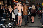 JENNIFER ROSE BAKER;, Dirty Pretty Things - summer party. Lingerie line hosts  party celebrating its new online shop and showcasing the latest collection. The Lingerie Collective, 8 Ganton Street, Soho. London, 15 June 2011<br /> <br />  , -DO NOT ARCHIVE-© Copyright Photograph by Dafydd Jones. 248 Clapham Rd. London SW9 0PZ. Tel 0207 820 0771. www.dafjones.com.