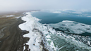 XINING, March 20, 2016 (Xinhua) -- <br /> <br /> The aerial photo taken on March 20, 2016 shows the scenery of ice floating on the Qinghai Lake in northwest China's Qinghai Province. Qinghai Lake, covering 4,400 square kilometers, is China's largest inland salt lake. With ice melting on the surface of the lake, Qinghai Lake begins its spring season<br /> ©Exclusivepix Media