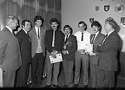 Bartenders Association of Ireland presenting certificates at lunch in Guinness Brewery...1983-02-21.21st February 1983.21/02/1983.02-21-83 ..Pictured at Guinness Brewery, St James's Gate, Dublin..Assembly of members who received certificates on successful completion of the BAI examination..Front row From left to right:..Fifth - Frank O'Reilly, President of Bartenders Association of Ireland.