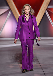 Faye Dunaway on the catwalk at the Fashion For Relief Charity Fashion Show as part of the 70th Cannes Film Festival.