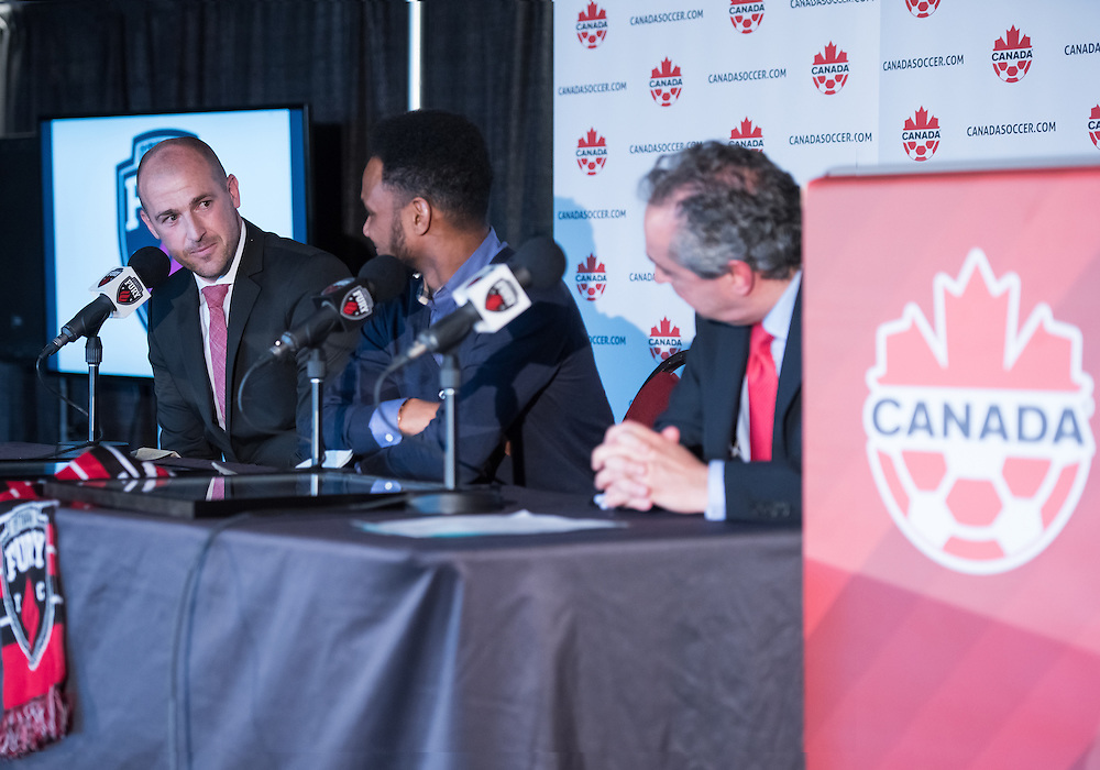 Ottawa Fury FC press conference at TD Place Stadium in Ottawa, ON. Canada on Jan. 30, 2017.<br /> <br /> PHOTO: Steve Kingsman/Freestyle Photography