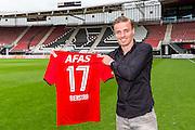 ALKMAAR - 27-08-15, Ben Rienstra tekent contract AZ,   AFAS Stadion,