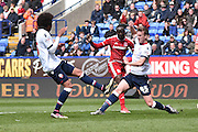 Middlesbrough Midfielder, Albert Adomah in action during the Sky Bet Championship match between Bolton Wanderers and Middlesbrough at the Macron Stadium, Bolton, England on 16 April 2016. Photo by Mark Pollitt.