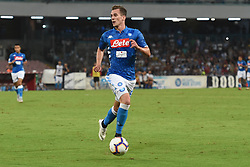 September 15, 2018 - Naples, Naples, Italy - Arkadiusz Milik of SSC Napoli during the Serie A TIM match between SSC Napoli and ACF Fiorentina at Stadio San Paolo Naples Italy on 15 September 2018. (Credit Image: © Franco Romano/NurPhoto/ZUMA Press)
