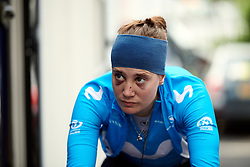 Alicia Gonzalez (ESP) warms up for Stage 6 of 2019 OVO Women's Tour, a 125.9 km road race from Carmarthen to Pembrey, United Kingdom on June 15, 2019. Photo by Sean Robinson/velofocus.com