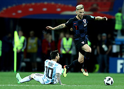June 21, 2018 - Nizhny Novgorod, Russia - Group D Argentina v Croazia - FIFA World Cup Russia 2018.Lionel Messi (Argentina) and Ivan Rakitic (Croatia) at Nizhny Novgorod Stadium, Russia on June 21, 2018. (Credit Image: © Matteo Ciambelli/NurPhoto via ZUMA Press)