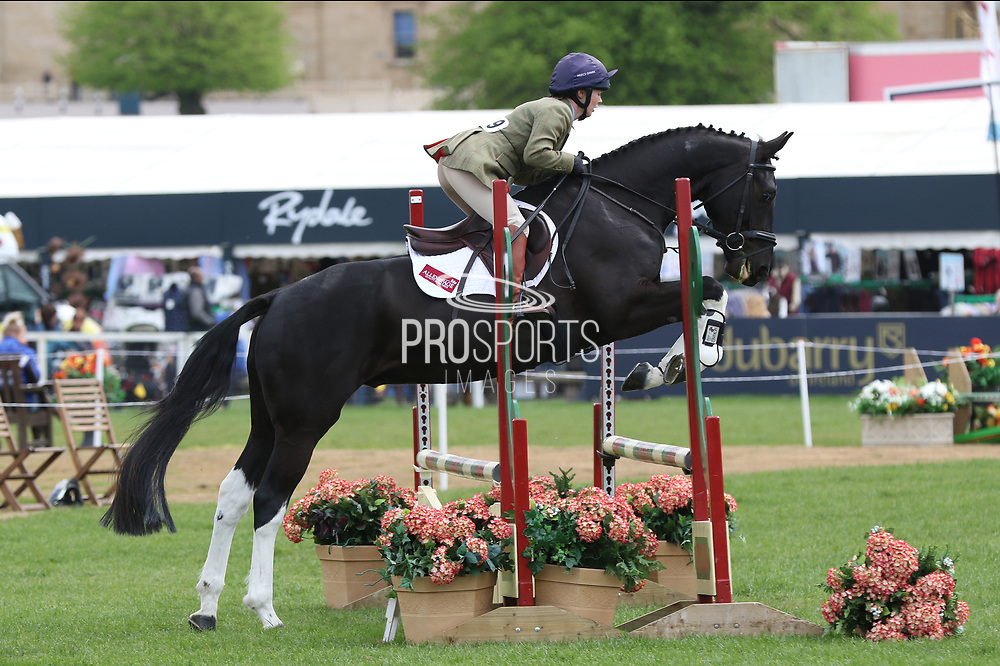 Annabelle Hughes on Fonz during the International Horse Trials at Chatsworth, Bakewell, United Kingdom on 11 May 2018. Picture by George Franks.
