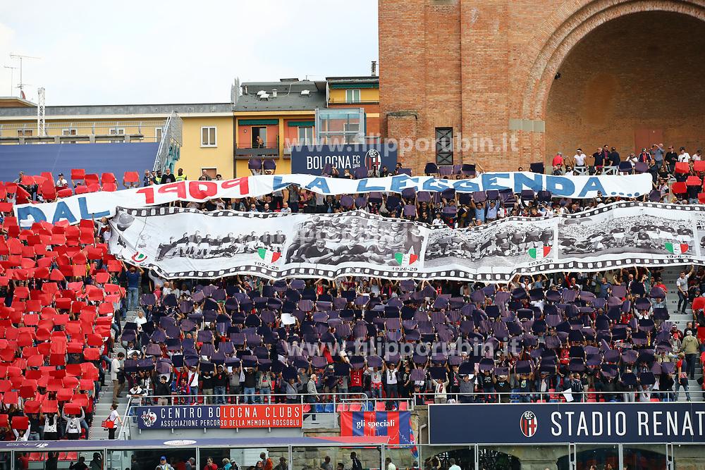 """Foto Filippo Rubin<br /> 06/10/2019 Bologna (Italia)<br /> Sport Calcio<br /> Bologna - Lazio - Campionato di calcio Serie A 2019/2020 - Stadio """"Renato Dall'Ara""""<br /> Nella foto: I TIFOSI DEL BOLOGNA<br /> <br /> Photo by Filippo Rubin<br /> October 06, 2019 Ferrara (Italy)<br /> Sport Soccer<br /> Bologna vs Lazio - Italian Football Championship League A 2019/2020 - """"Dall'Ara"""" Stadium <br /> In the pic: BOLOGNA FC SUPPORTERS"""