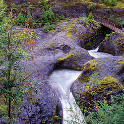 Lava Canyon Falls, Mt. St. Helens National Volcanic Monument, Washington, US