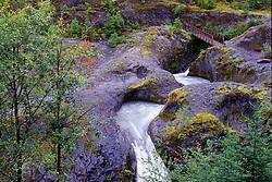 Lava Canyon Falls, Mt. St. Helens National Volcanic Monument, Washington, US