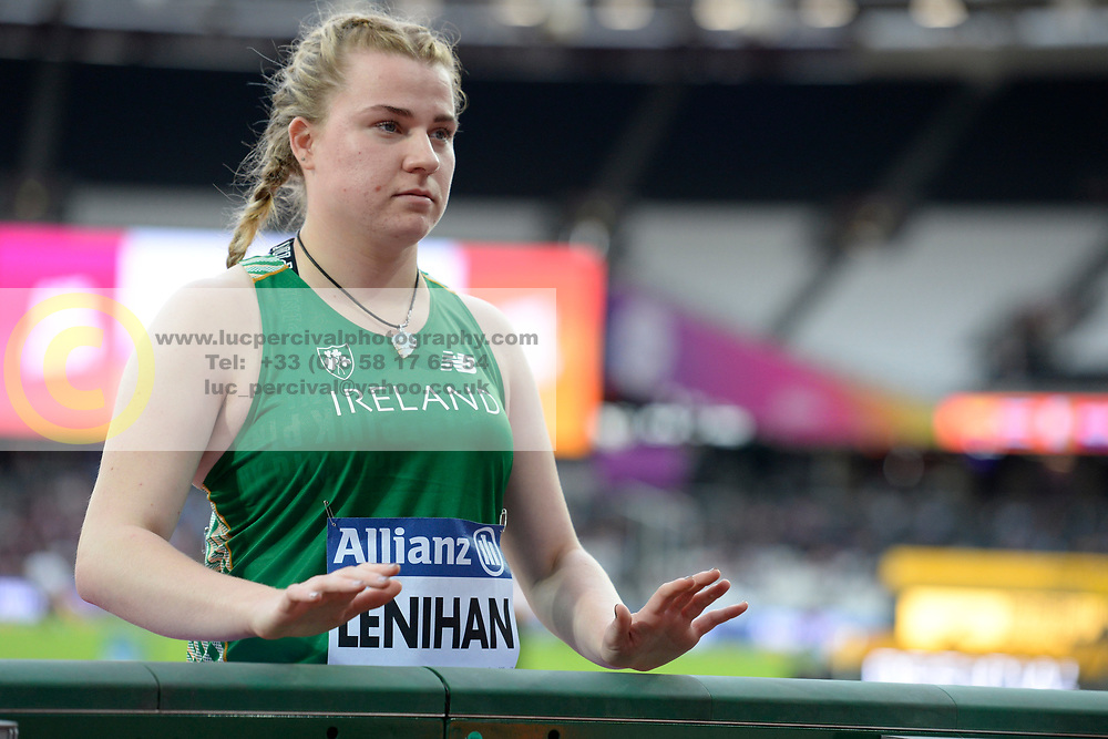 20/07/2017 : Noelle Lenihan (IRL), F38, Women's Discus, at the 2017 World Para Athletics Championships, Olympic Stadium, London, United Kingdom