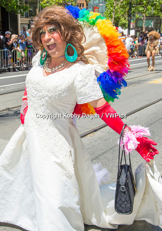 participant at the annual San Francisco Gay pride parade