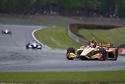 April 23, 2018 - Birmingham, Alabama, United States of America - RYAN HUNTER-REAY (28) of the United States battles for position through the turns during the Honda Grand Prix of Alabama at Barber Motorsports Park in Birmingham, Alabama. (Credit Image: © Justin R. Noe Asp Inc/ASP via ZUMA Wire)