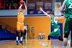 Jure Pelko KK Helios Suns during 9. round of Slovenian national championship between teams Helios Suns and Zlatorog Lasko in Sport Hall Domzale on 30. November 2019, Domzale, Slovenija. Grega Valancic / Sportida