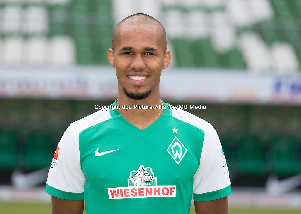 German Soccer Bundesliga 2015/16 - Photocall of Werder Bremen on 10 July 2015 in Bremen, Germany: Theodor Gebre Selassie