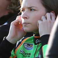 Danica Patrick after practice at Daytona International Speedway on February 18, 2011 in Daytona Beach, Florida. (AP Photo/Alex Menendez)