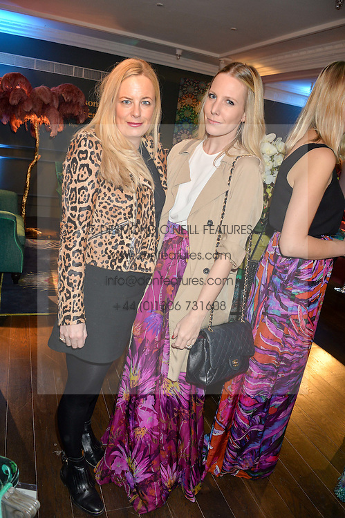 Left to right, ASTRID HARBORD and ALICE NAYLOR-LEYLAND at the Duresta For Matthew Williamson Exclusive Launch At Harrods, Knightsbridge, London on 10th March 2016.