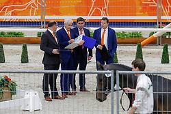 Keuringscommissie springen, Dirksen Henk, Loefen Cor, Van den Broek Henk, Van der schans Woout Jan<br /> KWPN hengstenkeuring - 's Hertogenbosch 2020<br /> © Hippo Foto - Dirk Caremans<br /> 29/01/2020