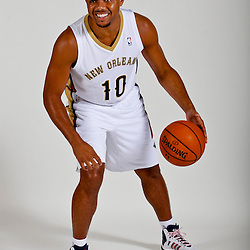 Sep 30, 2013; Metairie, LA, USA; XXXX poses for a portrait at Pelicans Practice Facility. Mandatory Credit: Derick E. Hingle-USA TODAY Sports