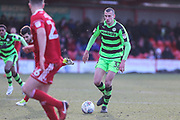 Forest Green Rovers Haydn Hollis(32) runs forward during the EFL Sky Bet League 2 match between Accrington Stanley and Forest Green Rovers at the Wham Stadium, Accrington, England on 17 March 2018. Picture by Shane Healey.