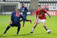 (L-R) Dani de Wit of Ajax U23, Mees Hoedemakers of AZ Alkmaar U23