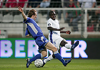 Fotball<br /> Frankrike<br /> Foto: Dppi/Digitalsport<br /> NORWAY ONLY<br /> <br /> FOOTBALL - UEFA CUP 2006/2007 - 1ST ROUND - 2ND LEG - AJ AUXERRE v DINAMO ZAGREB - 28/09/2006<br /> <br /> KANGA AKALE (AUX) / LUKA MODRIC (DIN)