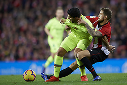 February 10, 2019 - Bilbao, Vizcaya, Spain - Luis Suarez of Barcelona and Inigo Martinez of Athletic battle for the ball during the week 23 of La Liga between Athletic Club and FC Barcelona at San Mames stadium on February 10 2019 in Bilbao, Spain. (Credit Image: © Jose Breton/NurPhoto via ZUMA Press)