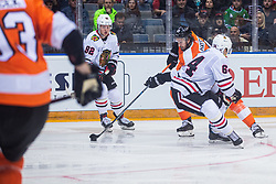Kevin Hayes of Philadelphia Flyers during NHL game between teams Chicago Blackhawks and Philadelphia Flyers at NHL Global Series in Prague, O2 arena on 4th of October 2019, Prague, Czech Republic. Photo by Grega Valancic / Sportida
