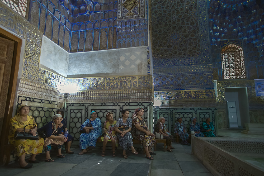 There is a saying in Uzbekistan that life revolved around the 'mazar' (tomb) and the bazaar, as Uzbeks would visit both with eagerness, hoping to leave with a bargain brought or a favour sought. Also, in Muslim world mausoleums became a special place for women. They are not supposed to have any part in religion, and never go to the Mosque for prayer. So mausoleums is where women would swear solemn oaths or pray for prosperity, children, guidance or a marriage partner.
