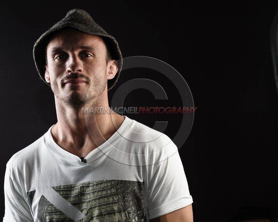 """BIRMINGHAM, ENGLAND, NOVEMBER 3, 2011: Brad Pickett poses for a portrait after the press conference for """"UFC 138: Munoz vs. Leben"""" inside the Hilton Hotel in Birmingham, England on November 3, 2011."""