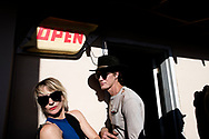 Marfa, Texas, Lost Horse Saloon, couple, tourists