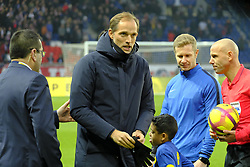 January 19, 2019 - Paris, Ile de France, France - Paris SG Coach THOMAS TUCHEL during the French championship League 1 Conforama match Paris SG against EA Guingamp at the Parc des Princes Stadium in Paris - France..Paris SG won 9-0 (Credit Image: © Pierre Stevenin/ZUMA Wire)
