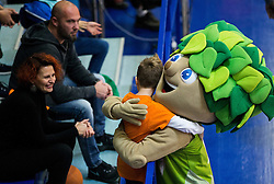 Mascot Lipko with fans during basketball match between KK Helios Suns (SLO) and Bakken Bears (DEN) in Round #4 of FIBA Champions League 2016/17, on November 8, 2016 in Sports Hall Domzale, Slovenia. Photo by Vid Ponikvar / Sportida