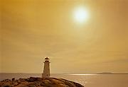 Peggy's Cove lighthouse and Atlantic Ocean<br /> Peggy's Cove<br /> Nova Scotia<br /> Canada