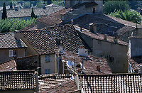 Rooftops Grimaud Village, Near St. Tropez, France   Photo: Peter Llewellyn