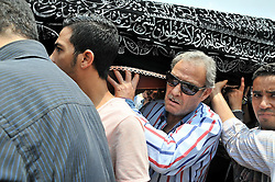 12.07.2015, Kairo, EGY, Beisetzung von Omar Sharif, im Bild Beerdigung des Schauspielers Omar Sharif // Actors and cinema workers attend the funeral of Egyptian actor Omar Sharif. According to the Egyptian actor's agent, Omar Sharif died at the age of 83 of a heart attack at a hospital in Cairo, Egypt on 2015/07/12. EXPA Pictures © 2015, PhotoCredit: EXPA/ APAimages/ Amr Sayed<br /> <br /> *****ATTENTION - for AUT, GER, SUI, ITA, POL, CRO, SRB only*****