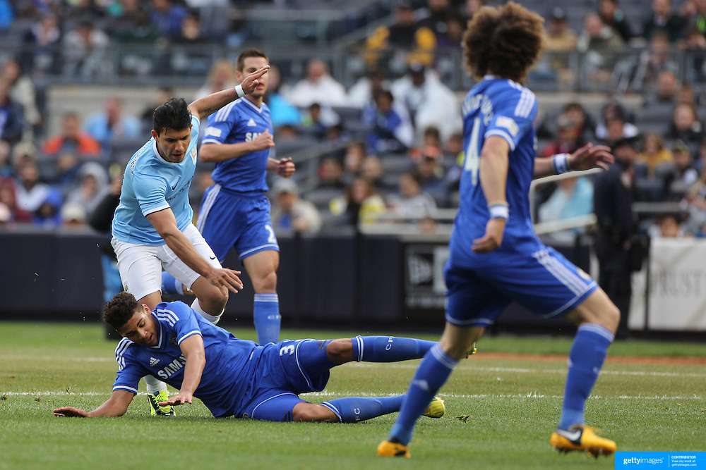 in action during the Manchester City V Chelsea friendly exhibition match at Yankee Stadium, The Bronx, New York. Manchester City won the match 5-3. New York. USA. 25th May 2012. Photo Tim Clayton