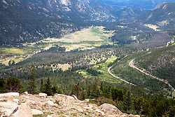 One of many views found on Colorado's  Trail Ridge Road Scenic Byway as it crosses both the Continental Divide and the width of Rocky Mountain National Park.